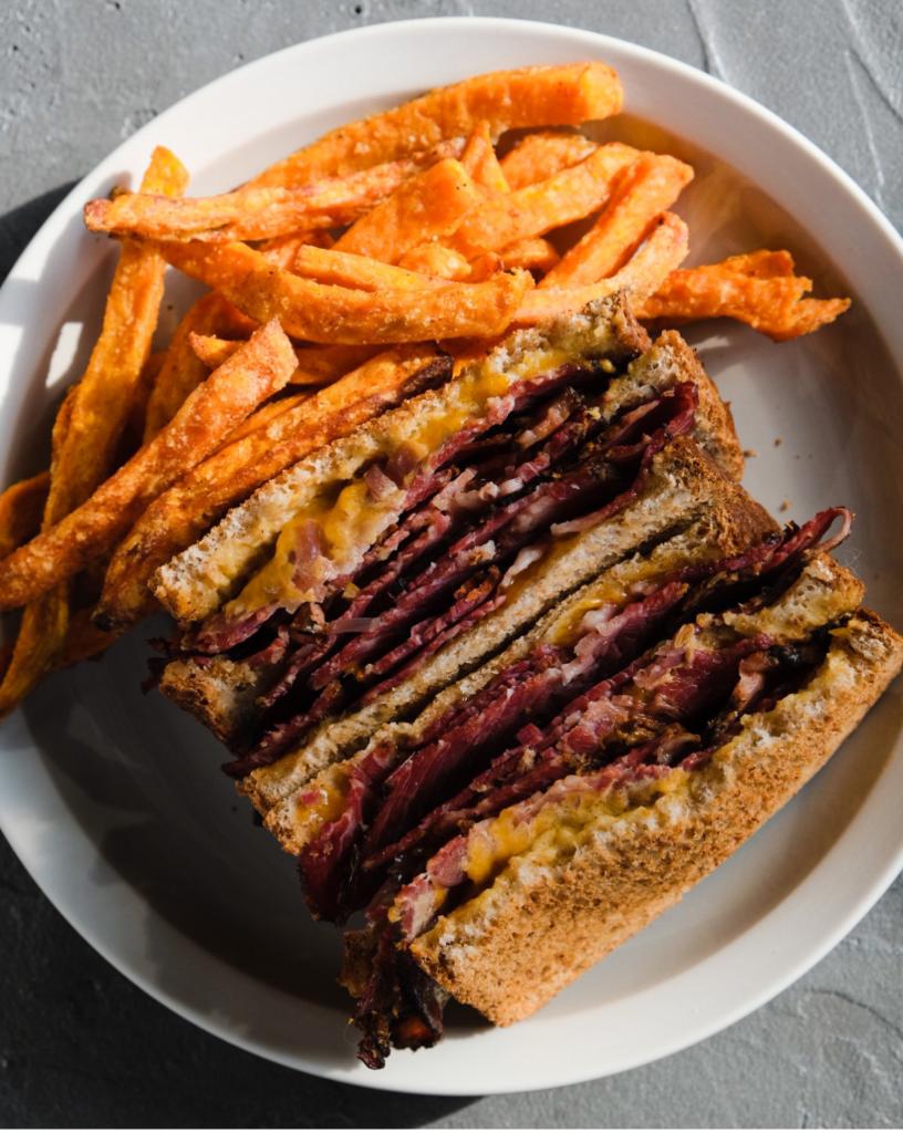 queen pastrami club sandwich cafeincup coffee shop bordeaux